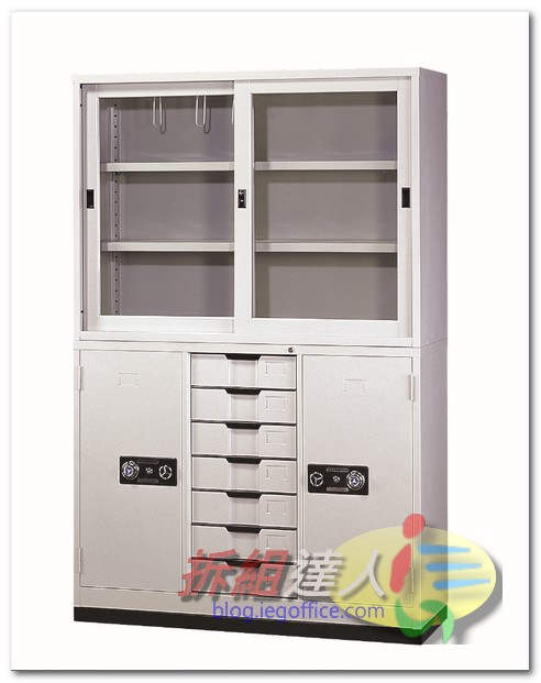 辦公家具-OA辦公鐵櫃-經濟綜合書櫃